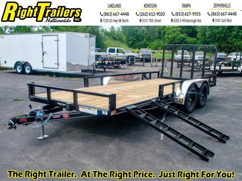 7X18 PJ Tandem Utility Trailer