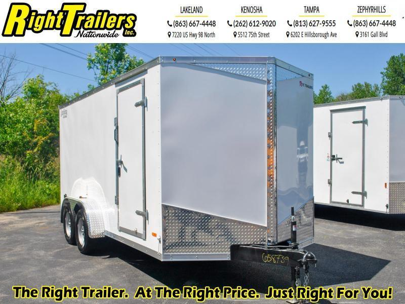7 x 16 RC Trailers  7K Tandem Axle Enclosed Cargo Trailer