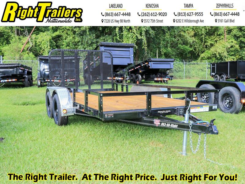 7X14 PJ Trailers 83 in. Tandem Axle Channel Utility Trailer