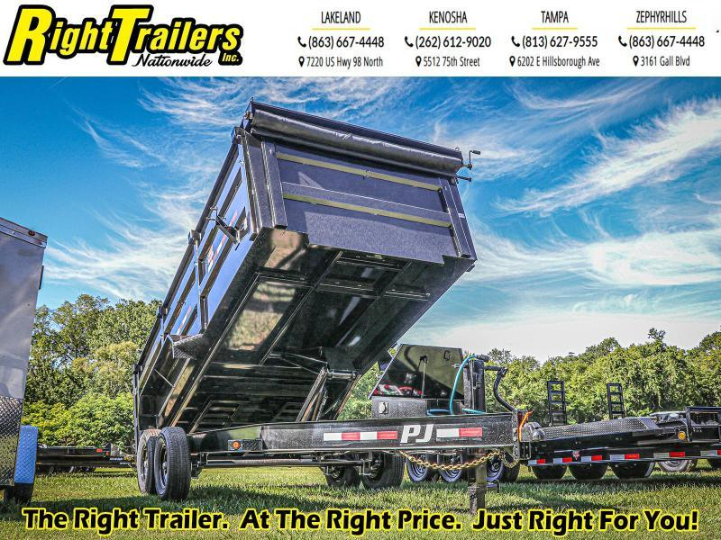 7X16X4 PJ Trailers 83 Low Pro High Side Dump (DM) Dump Trailer