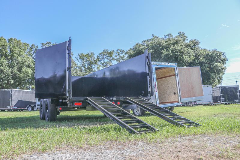 7X16X4 PJ Trailers 83 Low Pro High Side Dump (DM) Dump Trailer