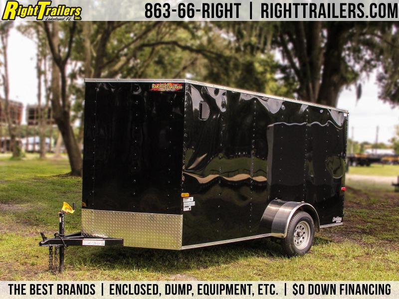 6x12 Red Hot Trailers   Enclosed Trailer [Black]