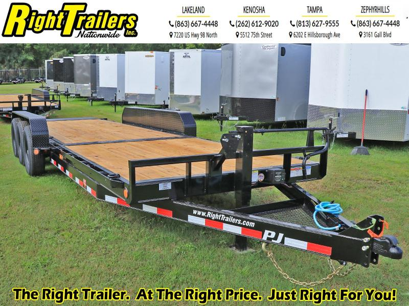 7X24 PJ Trailers 6 in. Channel Equipment Tilt (T6) Equipment Trailer
