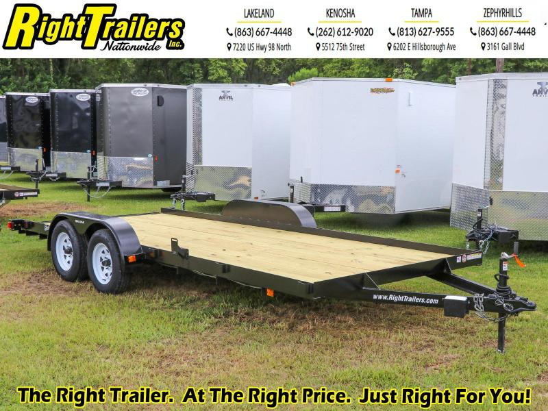 7X18 Red Hot  Equipment Trailer