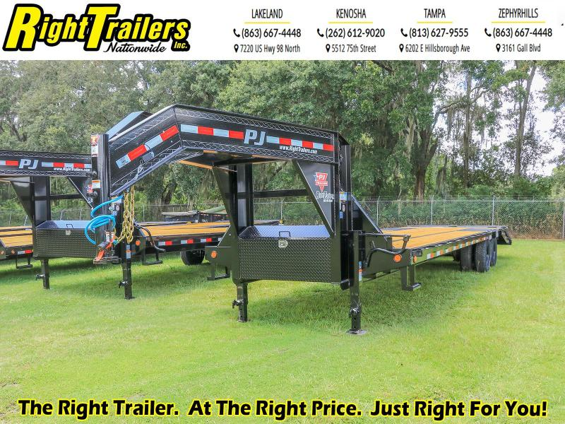 8.5X32 PJ Trailers Low-Pro Flatdeck with Duals (LD) Flatbed Trailer