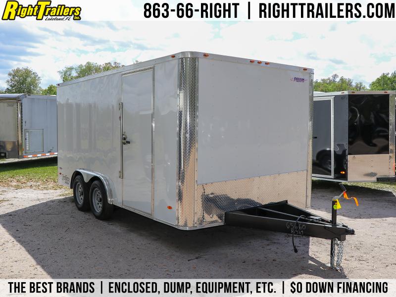 8X16 Freedom Trailers   Enclosed Cargo Trailer