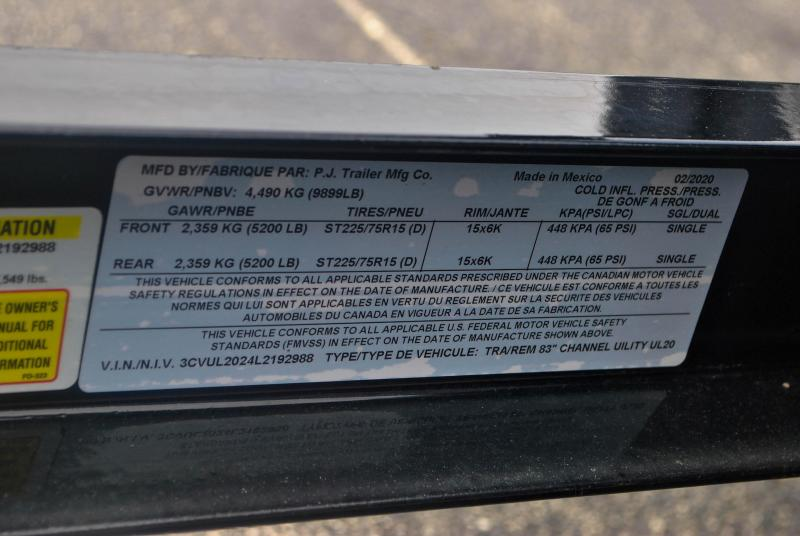 7X20 PJ Utility Trailer
