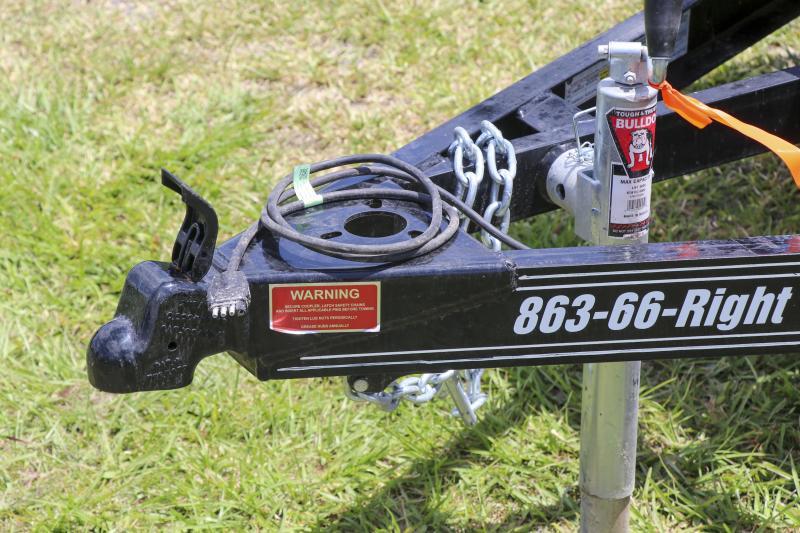 7X12 PJ Trailers 77 in. Single Axle Channel Utility (U7) Utility Trailer