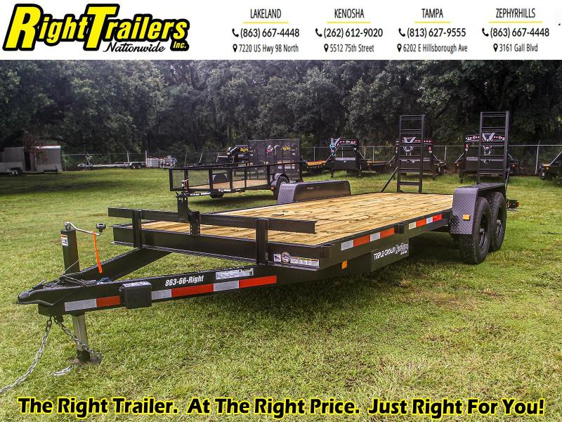 7x20 Red Hot 14000# GVWR Equipment Trailer