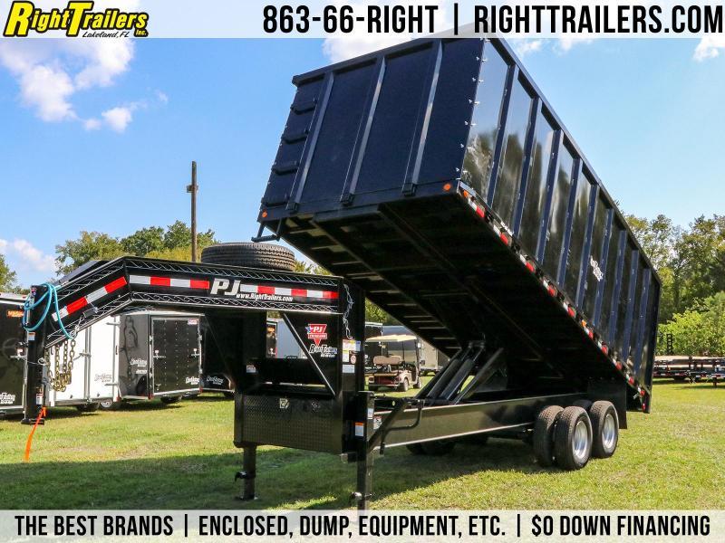 8x20x6 PJ Trailers | Gooseneck Deck Over Dump Trailer
