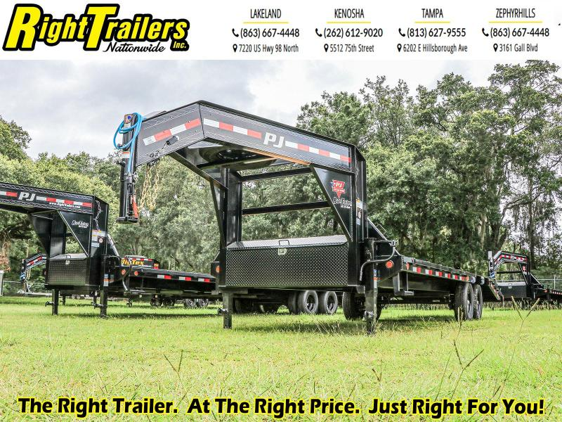 8.5X25 PJ Trailer Low-Pro Flatdeck with Singles (LS) Flatbed Trailer