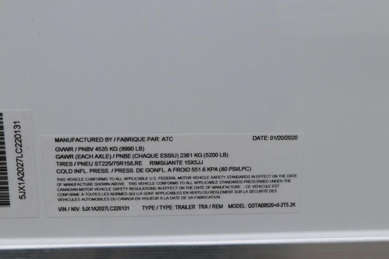 8.5x20 ATC   Enclosed Car Trailer / Racing Trailer