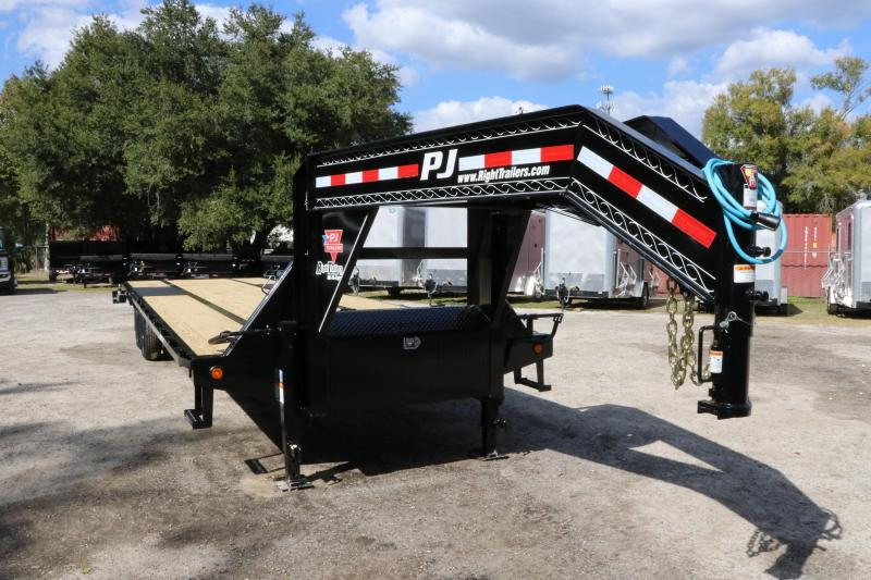 8.5x30 PJ Trailers Low-Pro Flatdeck with Duals | Flatbed Trailer