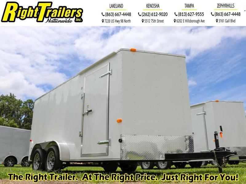 7x14 Red Hot I Enclosed Cargo Trailer