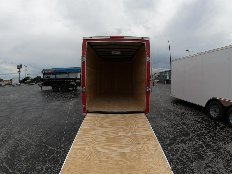 6x12 Red Hot Enclosed Cargo Trailer