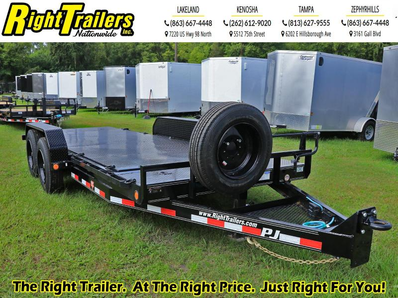 7X18 PJ Trailers 6 in. Channel Equipment Tilt (T6) Equipment Trailer