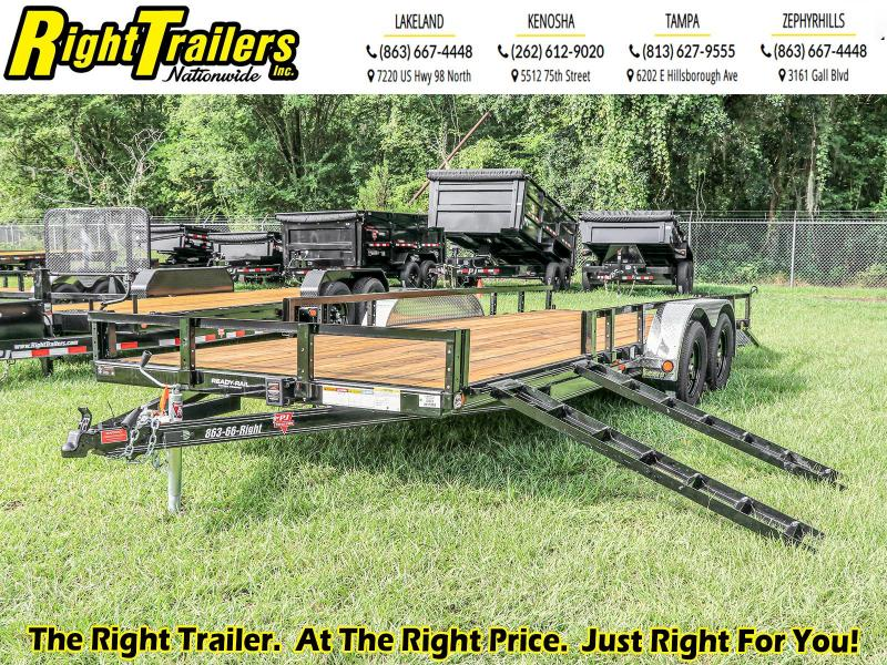 7X20 PJ Trailers I (UL) ATV Tandem Axle Channel Utility