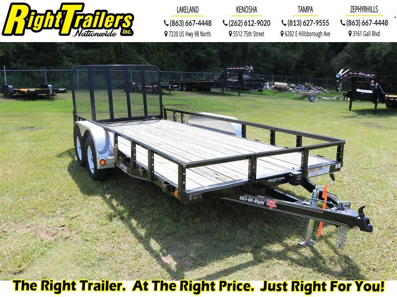 USED-7X16 PJ Trailers 83 in. Tandem Axle Channel Utility (UL) Utility Trailer
