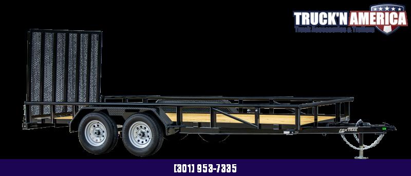 2021 Fox Trail 770 Series 12' Single Axle Landscape Trailer