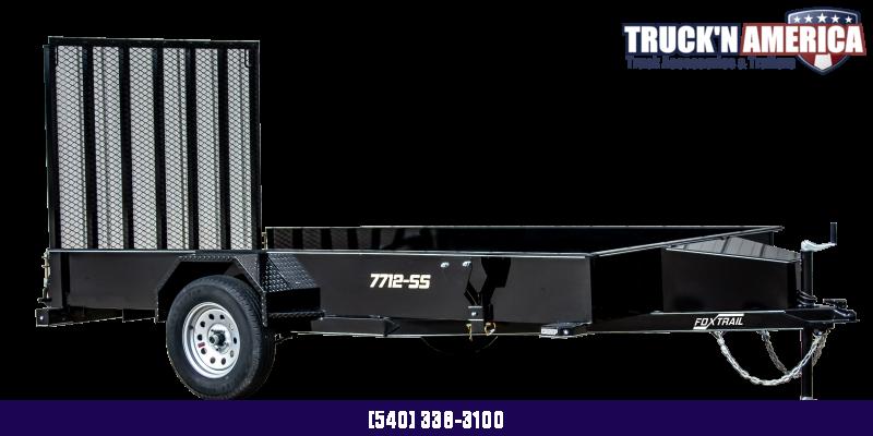 2021 Fox Trail 770 Series 10' Single Axle Utility Trailer