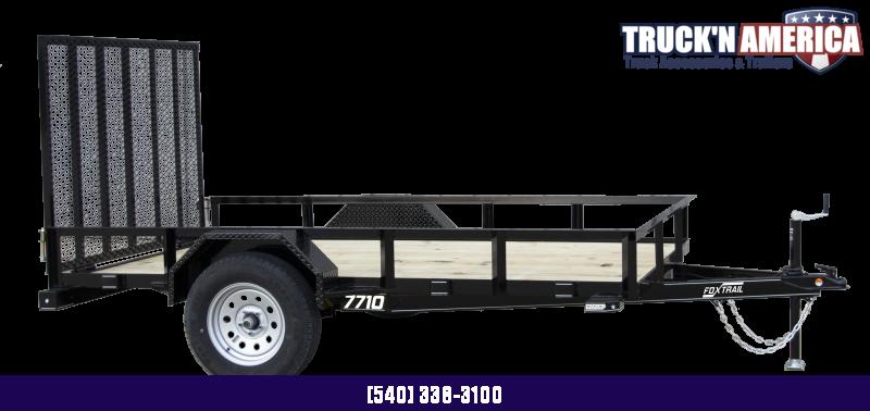 2021 Fox Trail 600 Series 10' Single Axle Utility Trailer
