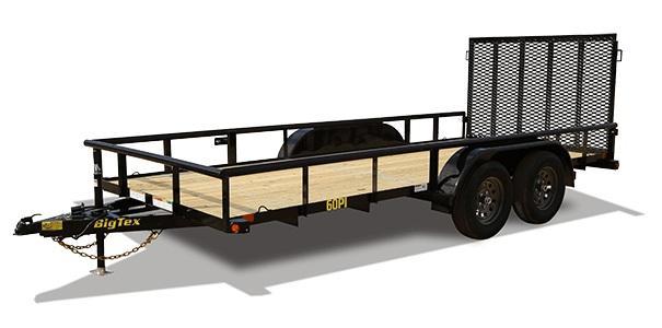 2022 Big Tex Trailers 60PI 77 X 16 Tandem Axle Utility Trailer