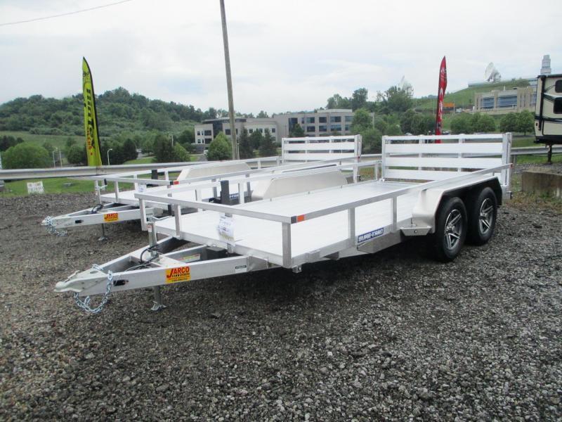 2021 Sure-Trac 7 X 14 Aluminum Tube Top  7K Tandem