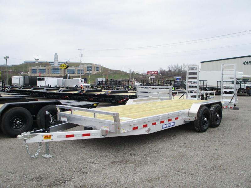 2021 Sure-Trac 7 X 18+2 Aluminum Implement 10K Equipment Trailer