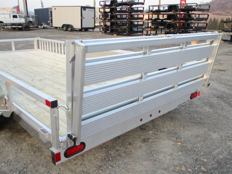 2021 Sure-Trac 7 X 16 Aluminum Tube Top ATV  7K Tandem