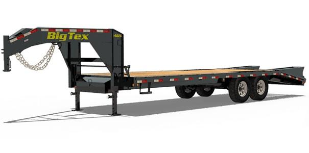 2020 Big Tex Trailers 14GN Gooseneck 25+5 with Mega Ramps Equipment Trailer
