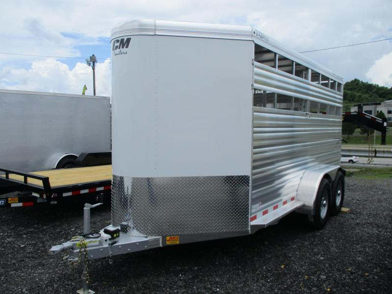 2021 CM Stocker ALV 6'8'' X 16 Livestock Trailer