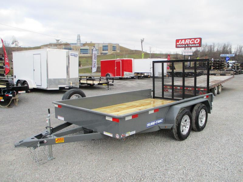 2021 Sure-Trac 7 x 12 Steel High Side Trailer  7K Tande