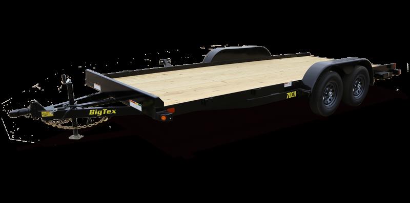 2022 Big Tex Trailers 70CH 83 X 18 Car / Racing Trailer
