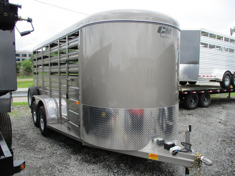 2021 CM Stocker 6 X 16 Livestock Trailer