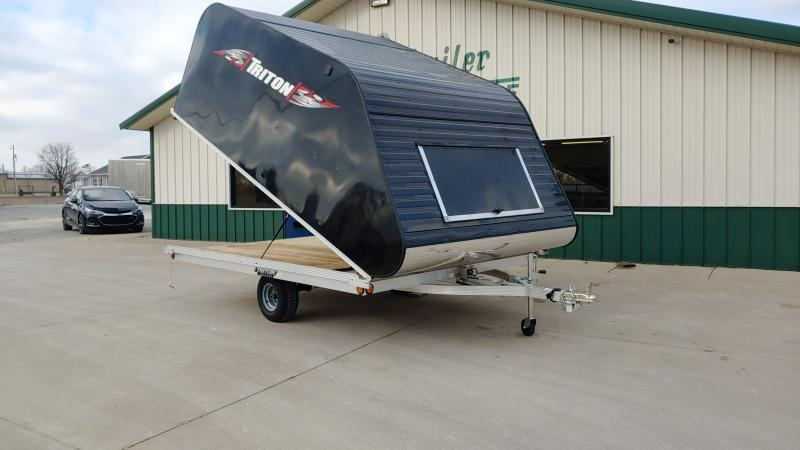 2020 Triton 8.5x11 2 Place Tilt Clamshell Black Enclosed Trailer