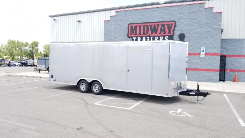 "2020 Sure-trac 8.5'x24'+6"" Hgt Silver 10k Car Hauler Enclosed Trailer"