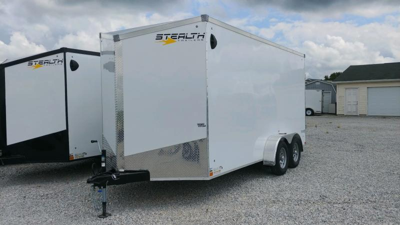 "2021 Stealth 7x16 Titan 7k White +6"" Enclosed Trailer"