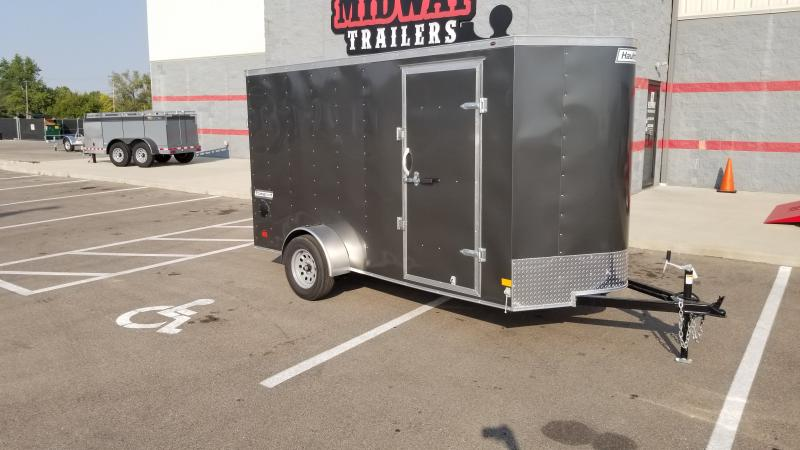 "2021 Haulmark 6'x12'+6"" Hgt 3k Charcoal Enclosed Trailer"