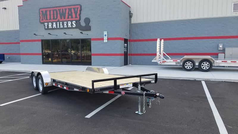2020 Pj Trailers 7'x18' Wood Deck 7k Car Hauler Trailer