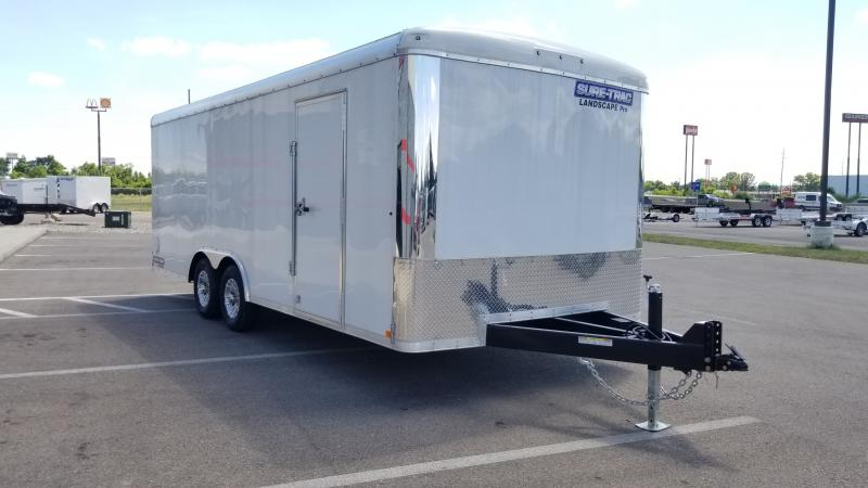 2021 Sure Trac 8 5 X24 Landscape Pro 10k White Enclosed Trailer Midway Trailers Trailers In St Marys Oh Flatbed Utility Dump And Cargo Trailers In St Marys Oh