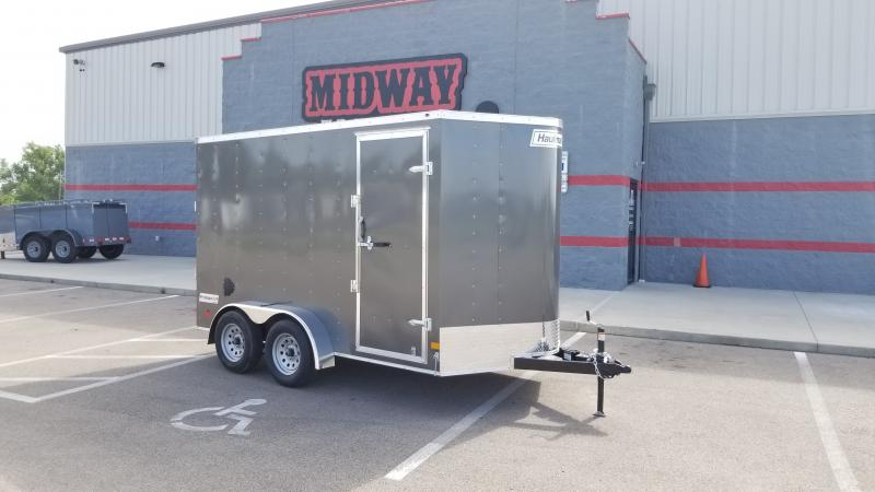 "2021 Haulmark 7'x12'+6"" Hgt 7k Charcoal Enclosed Trailer"