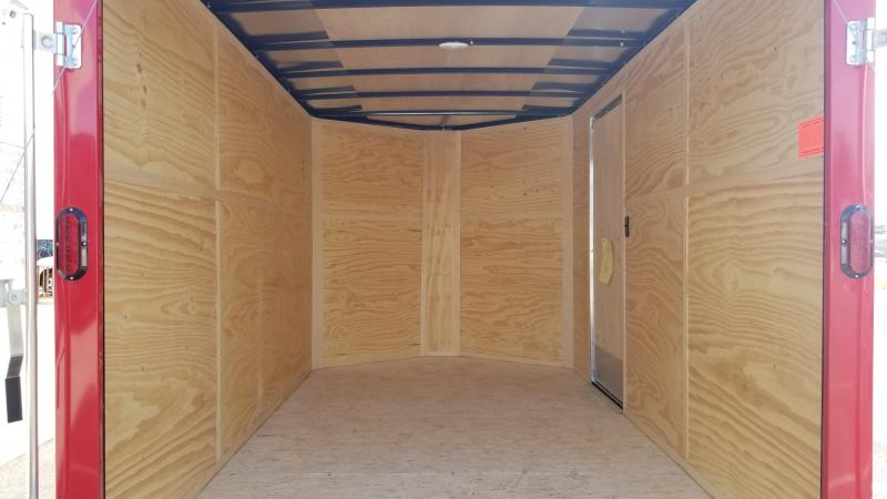 2021 Interstate 7' X 12' 3k Red Enclosed Trailer