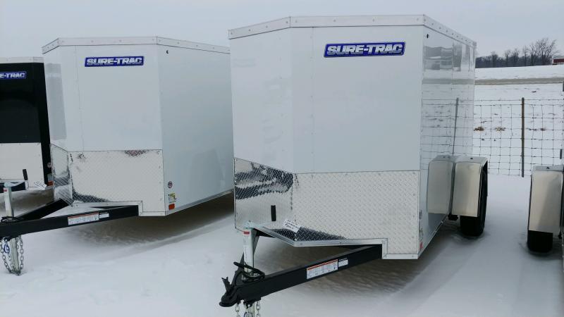 2021 Sure-trac 5'x10' Stw 3k White Swing Door Enclosed Trailer
