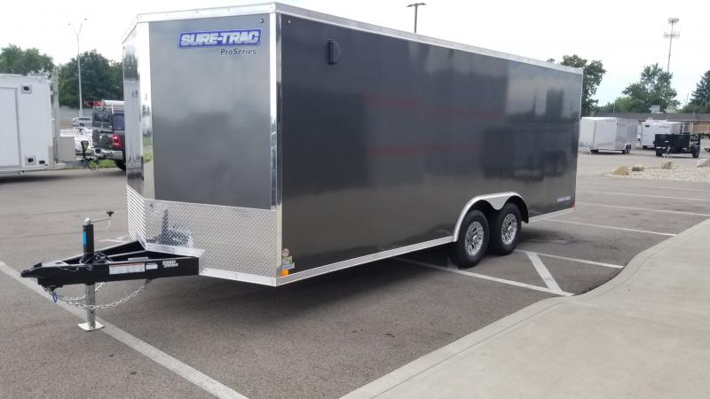 2021 Sure-trac 8.5'x20' 10k Ch Charcoal Enclosed Trailer
