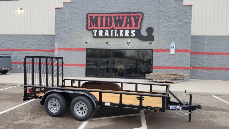 2021 Texas Bragg Trailers 7'X14' 7K PIPE TOP Utility Trailer