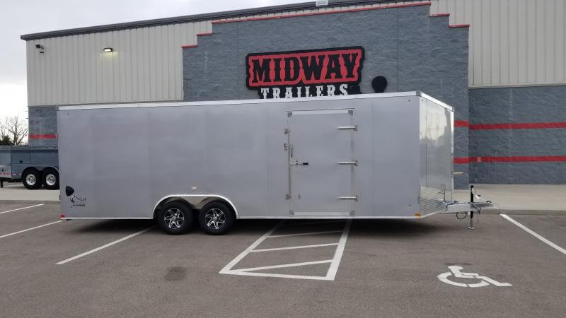 "2022 Stealth 8.5'x24'+6"" Cobra 10k Silver Enclosed Trailer"