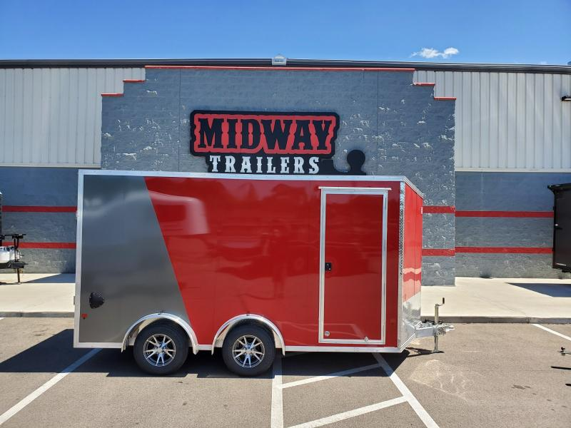 2020 Ez Hauler 7.5'x14' Alum 7k Red/charcoal Enclosed Trailer
