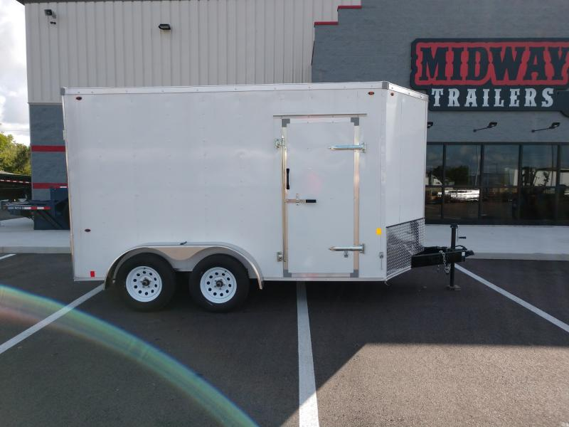 2020 Interstate 7'x12' 7k White Enclosed Trailer