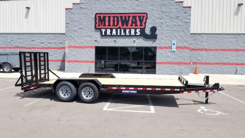 2020 Sure-trac 7'x20' Equipment 14k Full Width Equipment Trailer