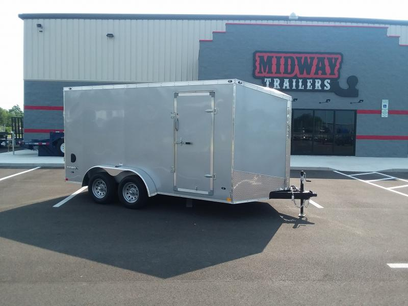 2022 Stealth 7'x16' Silver 7k Silver Enclosed Trailer